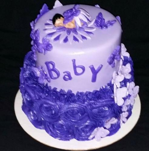 butterfly baby shower cakes